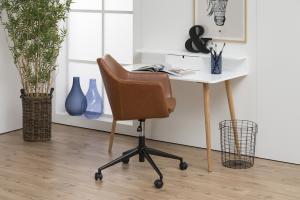 Dizajnová kancelárska stolička Norris, brandy
