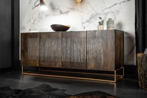 Dizajnová komoda Armani, 177 cm, mango / achát