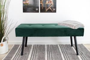 Dizajnová lavica Elaina zelený zamat