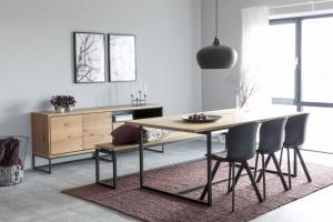 Dizajnová lavica Nadira, brúsený divoký dub