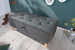 Dizajnová lavica Queen 100 cm sivá