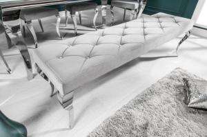 Dizajnová lavica Rococo, 170 cm, sivá