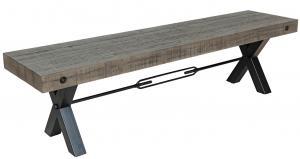 Dizajnová lavica Thunder 170 cm sivá - borovica