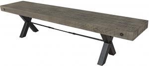 Dizajnová lavica Thunder 200 cm sivá - borovica