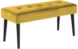 Dizajnová lavička Neola, žltá