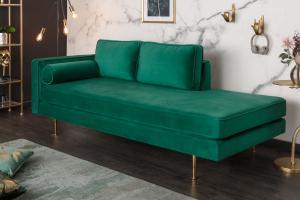 Dizajnová leňoška Evie 196 cm smaragdovozelený zamat
