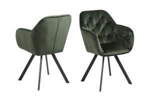 Dizajnová otočná stolička Aletris, lesnícka zelená