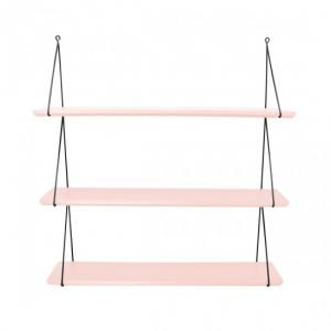 Dizajnová polička Triple Light Pink