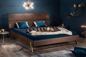 Dizajnová posteľ Massive 180 x 200 cm akácia vinegar