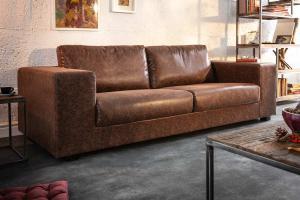 Dizajnová sedačka Joe - 219 cm vintage hnedá