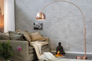 Dizajnová stojaca lampa Big Bow medená 170-210 cm