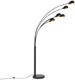 Dizajnová stojaca lampa čierna 5-svetlá - Sixties Marmo