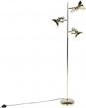 Dizajnová stojaca lampa zlatá 3-žiarovka - Tommy