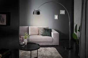 Dizajnová stojanová lampa Arch chróm