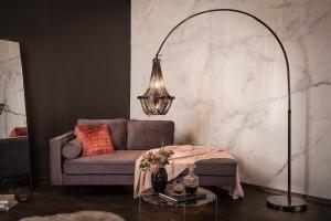 Dizajnová stojanová lampa Kingdom 170 - 210 cm čierna