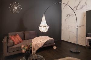 Dizajnová stojanová lampa Kingdom 189 - 204 cm strieborná