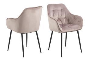 Dizajnová stolička Alarik, popolavá ružová