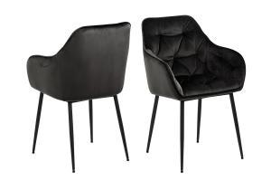 Dizajnová stolička Alarik, sivá / hnedá