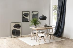 Dizajnová stolička Alawin, biela