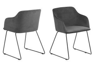 Dizajnová stolička Aleem, antracitová