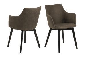 Dizajnová stolička Aleksander, olivovo zelená