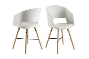 Dizajnová stolička Alexei, biela