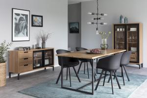 Dizajnová stolička Almanzo, čierna