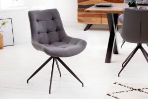 Dizajnová stolička Amiyah svetlosivá-čierna