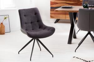 Dizajnová stolička Amiyah tmavosivá-čierna