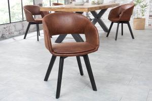 Dizajnová stolička Colby hnedá antik