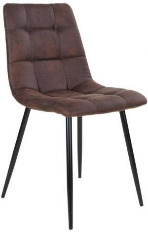 Dizajnová stolička Dominik tmavohnedá - Skladom na SK - RP