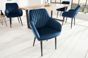 Dizajnová stolička Esmeralda, kráľovská modrá