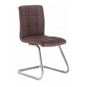 Dizajnová stolička, hnedá látka, LAVINIA