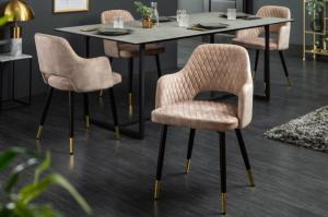 Dizajnová stolička Laney ružový zamat