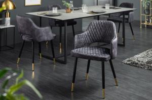 Dizajnová stolička Laney sivý zamat