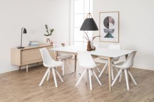 Dizajnová stolička Nascha, biela