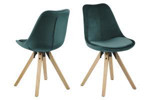 Dizajnová stolička Nascha, fľaškovo zelená