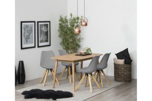 Dizajnová stolička Nascha, šedá-prírodná