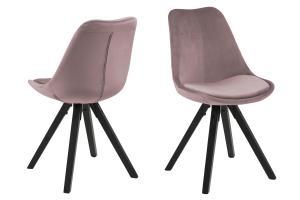Dizajnová stolička Nascha, svetlo ružová-čierna