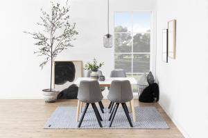 Dizajnová stolička Nascha, svetlo šedá-čierna