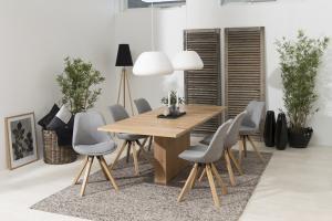 Dizajnová stolička Nascha, svetlo šedá