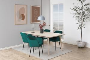 Dizajnová stolička Nashira, fľaškovo zelená, kovová