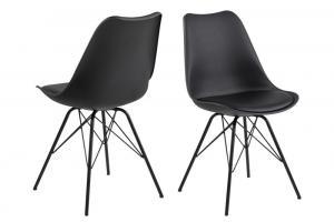 Dizajnová stolička Nasia, čierna