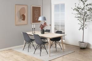 Dizajnová stolička Nasia, tmavo šedá