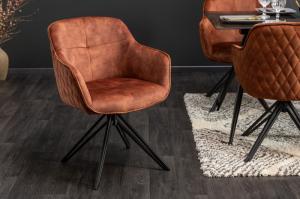 Dizajnová stolička Natasha hnedý zamat