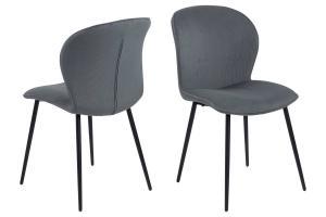 Dizajnová stolička Nenitte, šedá