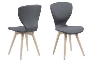 Dizajnová stolička Neoma, tmavo šedá a biela