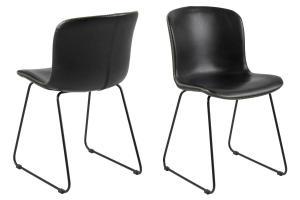 Dizajnová stolička Nerilla, čierna ekokoža