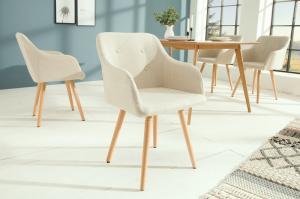 Dizajnová stolička Norway krémová - Skladom na SK - RP