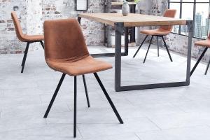 Dizajnová stolička Rotterdam Retro / hnedá